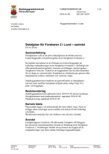 Tjänsteskrivelse - detaljplan för nya kontorsbyggnader