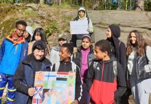 Utmarksskolan gör affischen till årets Tellusfestival