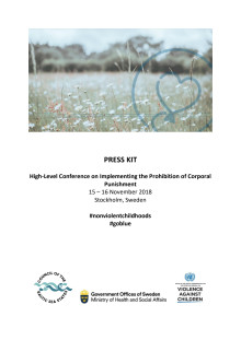 Press kit: High-Level Conference on Implementing the Prohibition of Corporal Punishment