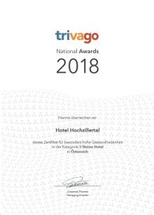 Das Hotel Hochzillertal zählt zu den Top 3 Sterne Hotels Österreich