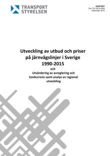 Utveckling av utbud och priser på järnvägslinjer i Sverige 1990-2015 (TSJ 2015-4354)