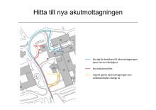 Hitta till den nya entrén på akutmottagningen på Danderyds sjukhus