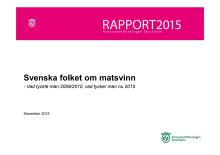 Rapport: Svenska folket om matsvinn - vad tyckte man 2009/2010, vad tycker man nu 2015?