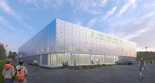 Första spadtaget för den nya sporthallen i Kungsängen