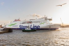 Brand new ferry Stena Estrid makes her debut on the Irish Sea