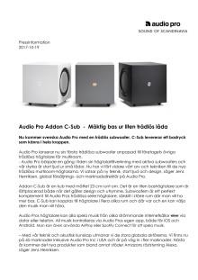 Audio Pro Addon C-Sub  -  Mäktig bas ur liten trådlös låda
