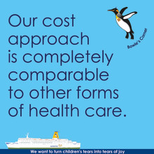 Our cost approach is completely comparable to other forms of health care.