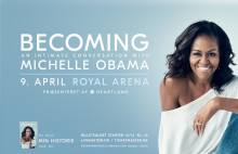 Heartland præsenterer: Michelle Obama i Royal Arena med Becoming: An Intimate Conversation with Michelle Obama