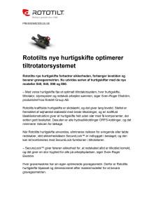 Rototilts nye hurtigskifte optimerer tiltrotatorsystemet