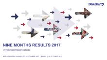Nine Months Results 2017 – Investor Presentation