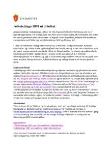 Folketelling1891 - pressemelding - nynorsk