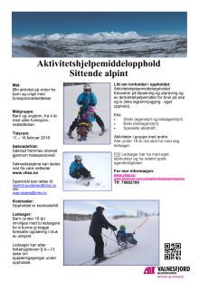 Aktivitetshjelpemiddelopphold - vinter (alpint) for barn og unge