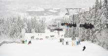 Masse snø til vinterferien