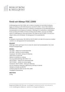 Förstå och tillämpa FSSC 22000