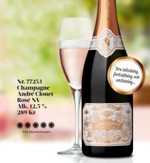André Clouet Rosé Champagne åter i lager!
