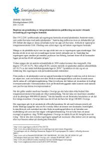 Åkessons KU-anmälan av integrationsminister Erik Ullenhag