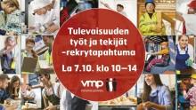 Tulevaisuuden Töitä ja Tekijöitä - Vuoden Huikein Rekrytapahtuma Turussa la 7.10. klo 10-14