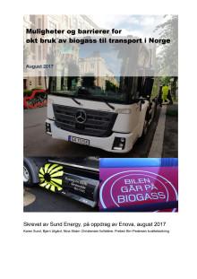 Muligheter og barrierer for økt bruk av biogass til transport i Norge