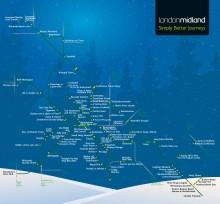 London Midland's new Christmas stations map