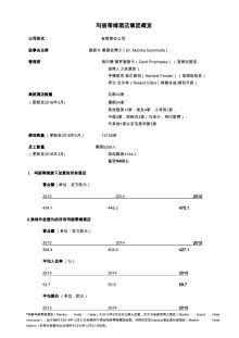 玛丽蒂姆酒店集团概览 (chinese)