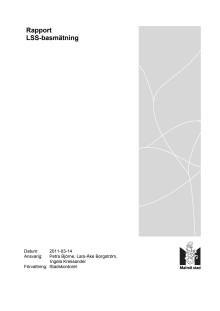 Rapport för basmätning av LSS-verksamhet
