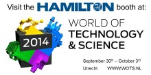Visit Hamilton at World of Technology and Science in Utrecht, free registration