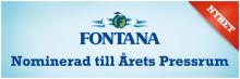 Fontana nomineras till Årets Pressrum 2010