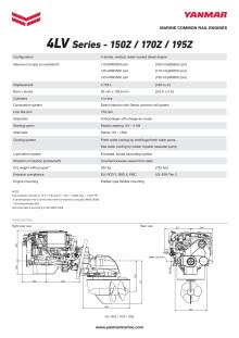 Datasheet - YANMAR 4LV Sterndrive