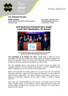ACR Electronics President Gerry Angeli  Leads 2017 Washington, DC Summit