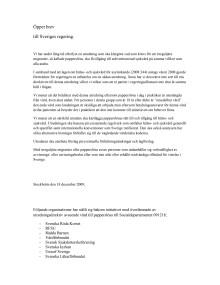 Öppet brev till Sveriges regering