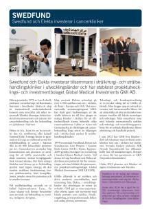 Faktablad: Swedfund och Elekta investerar i cancerkliniker