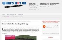 Blue Badge Style Featured On What's Hot UK