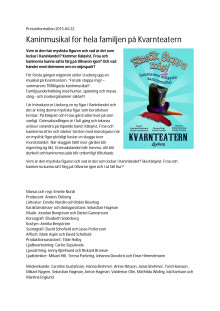 """Pressmaterial """"Försök stoppa mig!"""" - Lisebergs musikal på Kvarnteatern"""