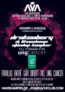 Havskampen Beach Party & Ung Cancer Fundraiser / Drakenberg @ AYA Beach Club Nynäshamn