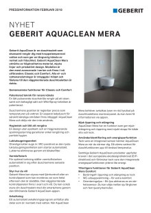 Pressinformation om AquaClean Mera