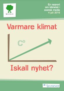 Ny rapport: Varmare klimat kallare nyhet i Västernorrland