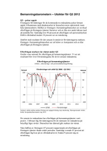 Bemanningsbarometern Q3 2012 - pekar uppåt