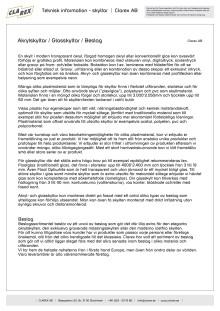Teknisk information - Akryl- och Glasskyltar