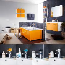 Nya smarta badrumslösningar i fyra färger från Gustavsberg