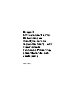 Bilaga 2 statusrapport