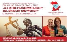 Vortrag & Talk: 100 Jahre Frauenwahlrecht - Ziel erreicht und weiter?