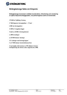 Strängbetong - Fakta om Emporia