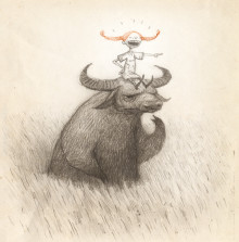 Illustration by Shaun Tan to Nationalmuseum