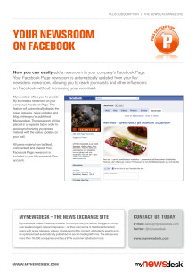 Product Flyer - Your Newsroom on Facebook