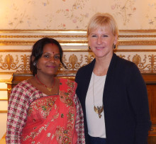 Utrikesminister Wallström mötte Per Anger-pristagare