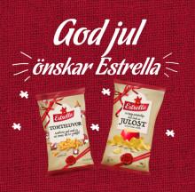 Estrellas Julostchips har blivit tradition! Lanseras i år tillsammans med spröda Tomteluvor
