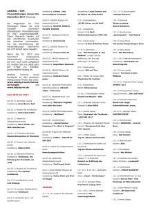 LEIPZIG - 500 TOP-Veranstaltungen 2017 - Kurzübersicht