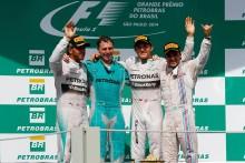Rosberg vinner Brasiliens GP tätt före Hamilton