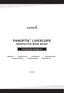 Datenblatt Garmin Panoptix LiveScope Perspective Mode Halterung