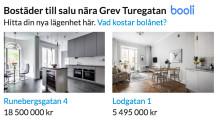 Hitta.se visar bostadsannonser från booli.se